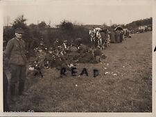 WW2 Grande gruppo di Tedesca Prigionieri guerra of War & veicoli Germania 1945