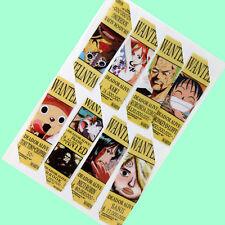 8pcs/set PVC bookmarks w/Anime ONE PIECE Luffy/Law/Sanji/Chopper/Robin/Zoro/Nami