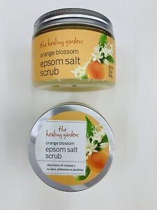 THE HEALING GARDEN ORANGE BLOSSOM EPSOM SALT SCRUB, 2 PCs