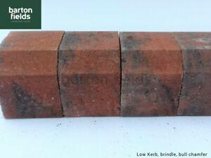 Block Paving Low Kerbs for Driveways / KS Key Kerb Edging in Brindle 120mm High