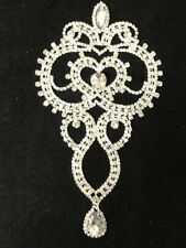 Rhinestone Brooch Applique Costume Dress Sewing Wedding Belt Cake Decoration #35