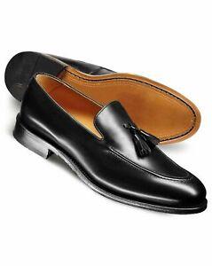 Handmade men loafer leather shoes Men leather tasseled slip ons shoes Men shoes