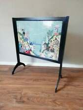 More details for art deco style fire screen with antique persian silk embroidery