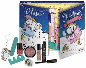 Pummel Einhorn Adventskalender BEAUTY Teenager Glitzer Make Up Kosmetik Pastell