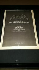 Metallica The Good, The Bad,  & The Live Rare U.K. Promo Poster Ad Framed!