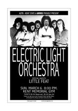 Electric Light Orchestra / Elo / Little Feat 1976 Kent State Concert Poster
