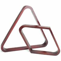 Mahogany Stain Pool Ball Racks, Triangle & Diamond Pack