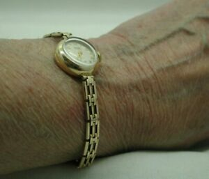 1950's Vintage 9 Carat Gold Ladies Rotary On Rolled Gold Bracelet