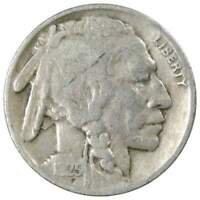 1925 Indian Head Buffalo Nickel 5 Cent Piece VG Very Good 5c US Coin Collectible