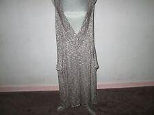 COMFY USA Gray/White Space Dyed Sleeveless V-Neck Hi-Low Hem Dress Jumper XS