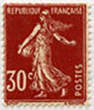 "FRANCE STAMP TIMBRE N° 360 "" TYPE SEMEUSE FOND PLEINv, 30 Cv"" NEUF xTB"