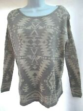 vtg Ralph Lauren Denim & Supply tunic sweater S gray South Western Aztec Indian