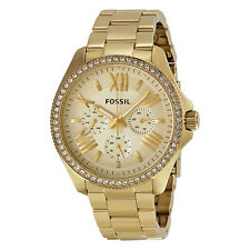 Fossil Women's AM4482 Cecile Multifunction Gold-tone Stainless Steel Watch