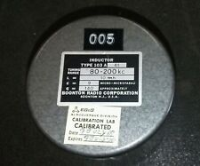 Boonton Radio Corp Inductor 80-200 MHz - New old Stock - Free Shipping in USA #2