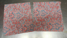 "RALPH LAUREN ""MERIDITH PAISLEY"" KING PILLOWCASES- COTTON-REDS-100% COTTON"