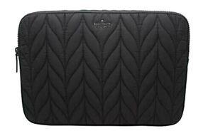 New Kate Spade new York Ellie Universal Quilter Nylon Laptop sleeve case Black