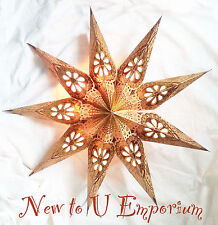 Decorative~Hand made in India hanging 9 point star pendant light shade-62cm