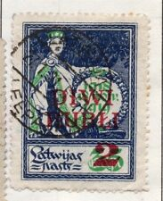 Latvia 1919-21 Early Issue Fine Used 2R. Surcharged 182310