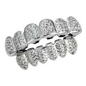 18K Uneven Style Hip Hop Teeth Grill Top & Bottom Grill Set Punk Accessories