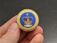 Halcyon Days Jewel House St. Edward's Crown Enameled Enamel Trinket Box Read