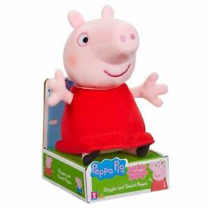 Peppa Pig - 20cm Giggle & Snort Soft Plush Peppa Toy with Sound and Phrases