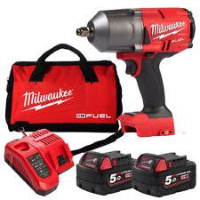 "Milwaukee 18V Fuel Cordless Brushless 1/2"" High Torque Impact Wrench Combo Kit"