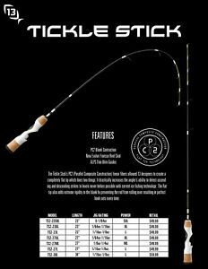 13 Fishing Tickle Stick Ice Fishing Rods - Choose Length / Action