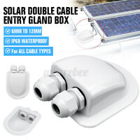 Roof  Solar Panel Double Cable Entry Gland Box Motorhome Camper Caravan Boat RV