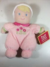 NWT Carter's Just One Year pink my first doll blonde flowers carters baby lovey