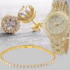 Geneva Luxury Women's Girl's Crystal Stainless Steel Quartz Analog Wrist Watch 1