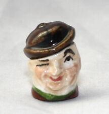 Vtg Dollhouse Miniature Porcelain Toby Bust Figurine Artisan Janice Crawley