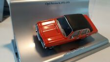 Schuco - Opel Collection - Opel Ascona A - 1:43 - orange/vinyl roof - mint boxed