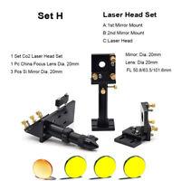 CO2 Laser Head Set Dia.20 Mirror Dia 20 Lens Integrative Mount Holder Engraver