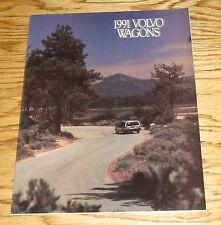 Original 1991 Volvo Wagon Sales Brochure 91 240 740 940