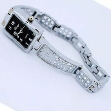 Vintage Hollow Butterfly Alloy Band Lady Women Quartz Dress Wristwatch o35SH