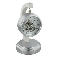 Piano Finish Mantel Clock With Suspended Skeleton Dial W2018
