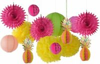 Paper Jazz Multicolored Paper Honeycomb Pineapple Table Centerpiece Hanging Part