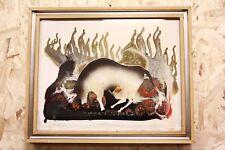 Dipinto / quadro tecnica mista su pannello astratto abstract firmato signed