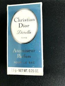 Christian Dior Diorella Atomiseur Parfum 7,5 g Net WT .25 OZ. VINTAGE SEALED BOX