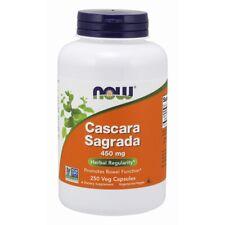 Now Foods Cascara Sagrada 450 mg - 250 Veg Capsules FRESH