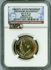 2013 D NGC MS67 PL MAC-DMPL $1 26TH PRESIDENT THEO ROOSEVELT DOLLAR, PROOFLIKE