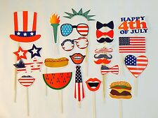 Independence Day Photo Booth Props, 4th of July Party Decorations, Favors, USA