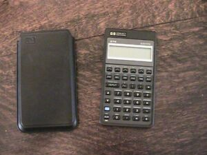 1987 HP 27S Hewlett Packard Calculator With Pouch/New Batteries - USA - REPAIR