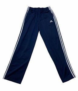 Adidas Women's Large Blue Athletic Track Pants 3 Stripes