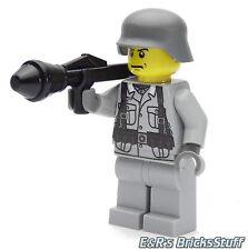 WW2 Custom Wehrmacht Soldat mit BrickArms Panzerfaust, Figur aus LEGO® Teilen