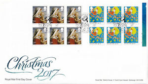 (44514) GB FDC Christmas 1st Booklet Holy Well Close Birmingham 2017