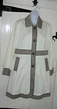 BODEN CREAM COAT MAC TRENCH COAT SIZE 14 FULLY LINED TAUPE DETAIL