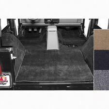 Carpet - Rugged Ridge Deluxe Black Carpet Kit for Jeep Wrangler YJ & CJ7
