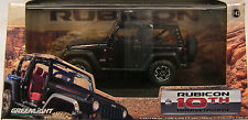 BLACK 2013 JEEP RUBICON GREENLIGHT 1:43 SCALE DIECAST METAL MODEL CAR