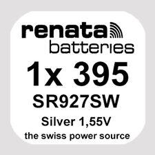 1x Renata 395 Uhren-Batterie Knopfzelle SR927SW AG7 Silberoxid Blisterware Neu